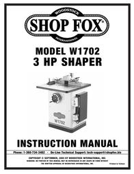Woodstock System W1702 User Manual