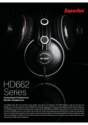 Superlux HD662B Leaflet