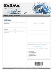 Karma Italiana CP 8763 Leaflet