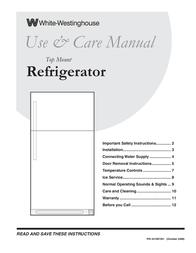 White Westinghouse 241997501 User Manual