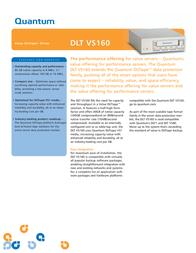 Quantum DLT VS160 Tape Drive, External Kit, LVD, Black, EU BH2BA-EO Leaflet