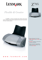 Lexmark Z705 COLOR INKJET 4800DPI 80D1290 Leaflet