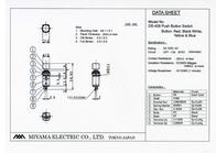 Miyama Pushbutton switch 125 Vac 3 A 1 x Off/On DS-408 latch 1 pc(s) DS-408, BL Data Sheet