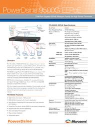 PowerDsine PD-9524G/ACDC/M Leaflet