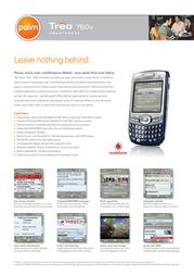 Vodafone Palm Treo 750v HGPL02 Leaflet