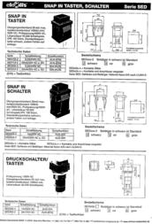 Eledis Pushbutton switch 250 Vac 1 A 1 x Off/On latch 1 pc(s) SED3GI-2 Data Sheet