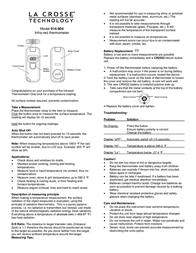 La Crosse Technology 914-604 Leaflet