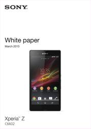 T-Mobile Sony Xperia Z TSASOXPEZBKLTHW User Manual