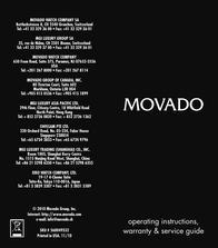 Movado 0602502 Supplementary Manual