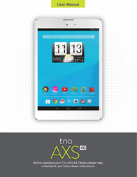 Trio AXS4G785 Owner's Manual