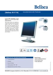 Belinea monitor 101715 17LCD 101715 Leaflet