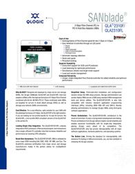 QLogic 64-bit 66MHz PCI-X to 2Gb Fibre Channel Adapter multi-mode optic QLA2310FL-CK Leaflet