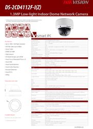 Hikvision Digital Technology DS-2CD4112F-IZ Leaflet