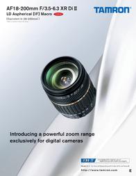 Tamron AF 18-200mm f3.5-6.3 XR Di II LD Aspherical (IF) Macro (Pentax) A14-DP User Manual