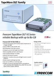 Freecom TapeWare DLT-VS80i, Beige 16407 Leaflet