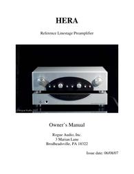 Rogue Audio Hera User Manual