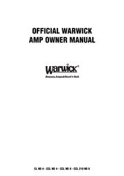 Warwick CL / CCL User Manual