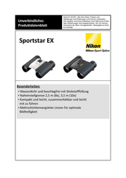 Nikon Sportstar EX 8x25 DCF BAA710AA Data Sheet