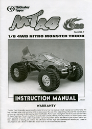 Thunder Tiger 1:8 RC model car Nitro Monster t 6228-F102 User Manual