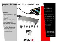 Groov-e GV-CH600 GVCH600 Leaflet