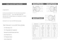 Lanzar Subwoofer MAXP104D Leaflet