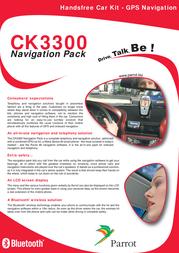Parrot CK3300 GPS Bluetooth Carkit CK3300 Leaflet