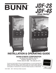 Bunn JDF-2 S, JDF-4 S, Lighted DisplayCanada Owner's Manual