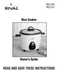 Rival Rice Cooker RC101 User Manual