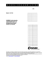 Hanna Instruments HI 98127 pH / ° C measurement equipment -2 - 16 pH HI 98127 User Manual
