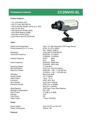 COP-USA cc25nvd-sl Specification Guide