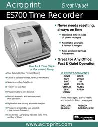 Acroprint ES700 User Manual