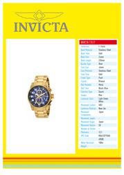 Invicta 17417 Specification Sheet