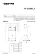 Panasonic TY-ST58PF20 Merkblatt