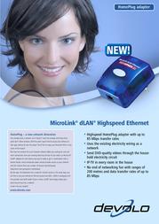 Devolo MicroLink dLAN Highspeed Ethernet 1151 プリント