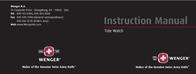 Wenger AquaGraph 70832 User Manual