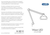 Glamoxluxo Wave LED ESD Magnifying Workshop Lamp WAL025964 Leaflet