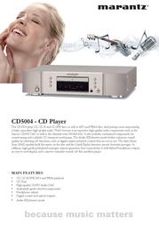Marantz CD5004/ZWA Leaflet