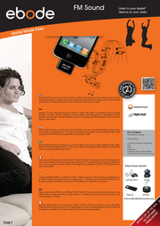 ebode FM Sound FM87 Leaflet