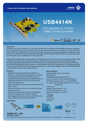 Sunix USB4414N Leaflet