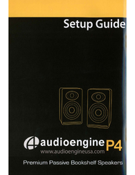 Audioengine P4 Owner's Manual