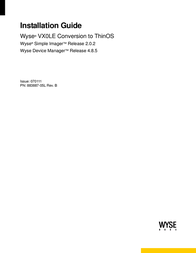 Wyse vx0le conversion to thinos 사용자 설명서