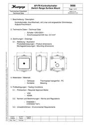 Kopp Wet-room programme 566602003 Data Sheet