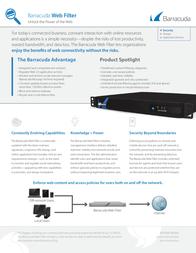 Barracuda Networks Web Filter 910 BYF910A3 Leaflet