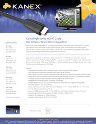 Kanex HDMI10FTKNX Leaflet