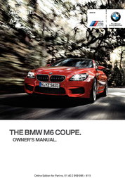 BMW 2016 M6 Coupe Owner's Manual