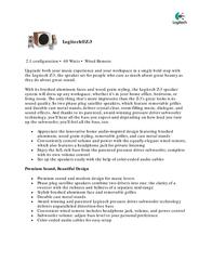 Logitech Z-3 970085-2914 Leaflet