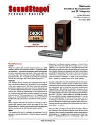 Thiel ss2 Brochure