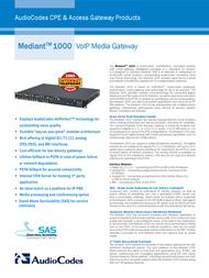 Audiocodes Mediant 1000 OSN/4FXS/4FXO Leaflet