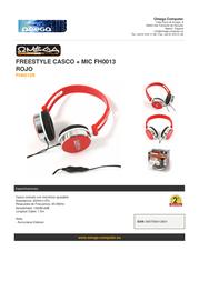 Omega FH0013R Leaflet
