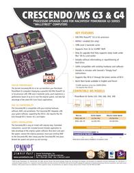 Sonnet Crescendo Wallstreet G4 500Mhz 1MB WSG4-500-1M Leaflet